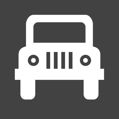 jeep: Wangler, car, vehicle icon vectgor image. Can also be used for transport, transportation and travel. Suitable for mobile apps, web apps and print media.
