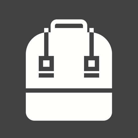 book case: Bag, school bag, books icon vector image. Can also be used for education, academics and science. Suitable for use on web apps, mobile apps and print media.