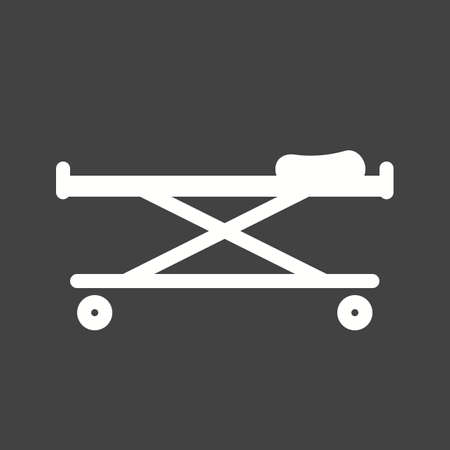 hospital patient: stretcher, bed, rescue icon vector image. Can also be used for healthcare and medical. Suitable for mobile apps, web apps and print media.