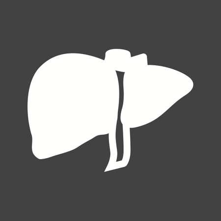 l�bulo: H�gado, �rgano humano, imagen del icono del vector del l�bulo hep�tico. Tambi�n se puede utilizar para la asistencia sanitaria y m�dica. Adecuado para aplicaciones m�viles, aplicaciones web y medios impresos.