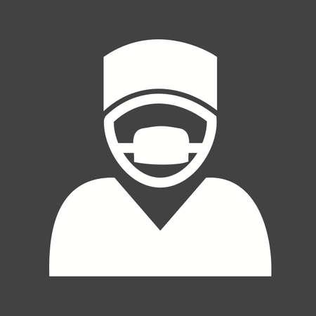 chirurgo: Chirurgo, medico, la chirurgia, icona della maschera immagine vettoriale. Può essere utilizzato anche per l'assistenza sanitaria e medica. Adatto per applicazioni mobili, applicazioni web e supporti di stampa.