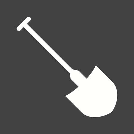 digger: Shovel, spade, digger icon vector image. Can also be used for construction, interiors and building. Suitable for use on web apps, mobile apps and print media. Illustration