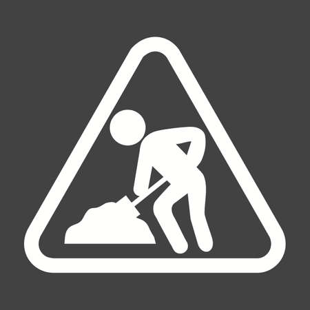 danger signs: Repair, work in progress icon vector image. Can also be used for construction, interiors and building. Suitable for use on web apps, mobile apps and print media. Illustration