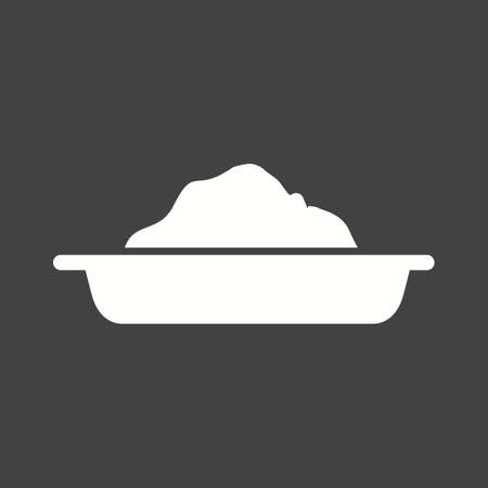 symol: Cement tray, tray, dish icon vector image. Can also be used for construction, interiors and building. Suitable for use on web apps, mobile apps and print media. Illustration