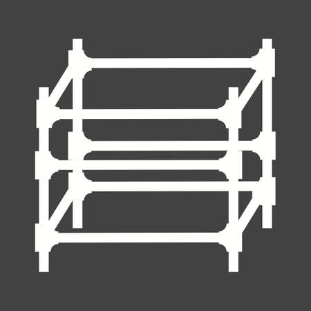 engineering icon: Scaffolding, steel, engineering icon vector image. Can also be used for construction, interiors and building. Suitable for use on web apps, mobile apps and print media. Illustration