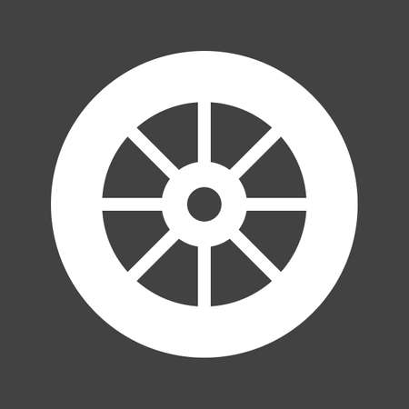 rim: Wheel, tyre, car icon vectgor image. Can also be used for transport, transportation and travel. Suitable for mobile apps, web apps and print media.