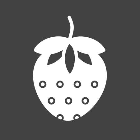 Strawberry, fruit icon vector image. Can also be used for eatables, food and drinks. Suitable for use on web apps, mobile apps and print media