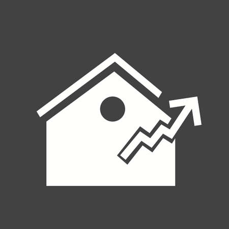 house mortgage: Real estate, house, mortgage icon vector image.