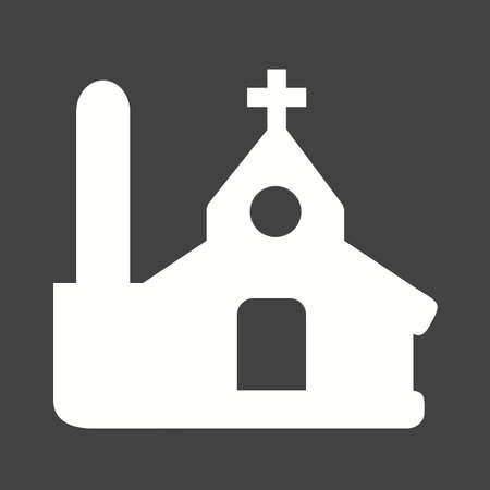 church bell: Church, christian, building icon vector image. Illustration