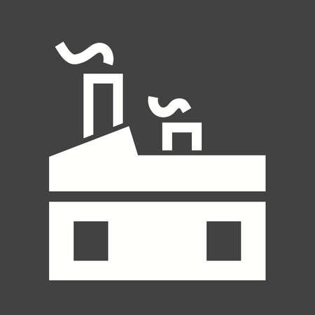 aluminium  design: Factory, plant, manufacturing icon vector image. Illustration