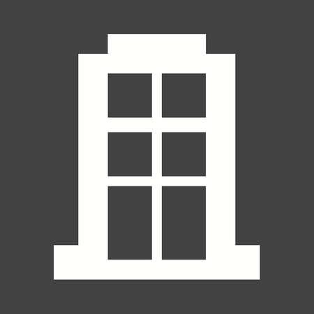 콘도: Apartment, building, block icon vector image.