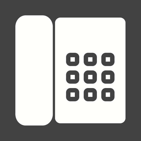 receiver: Phone, cradle, receiver icon vector image.  Illustration
