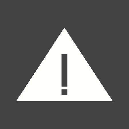exclamation icon: Warning, mark, exclamation icon vector image Illustration