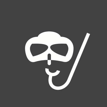 Snorkel, swimming, summer icon vector image. Illustration