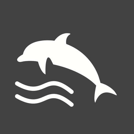 dolphin fish: Dolphin, fish, water icon vector image. Illustration