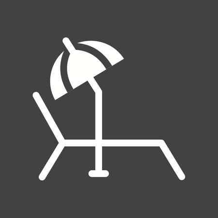sunbathing: Sunbathing, beach, summer icon vector image. Illustration