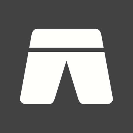 trousers: Shorts, trousers, summer icon vector image