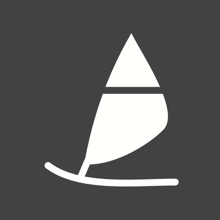 surfing board: Surfing, board, water icon vector image.