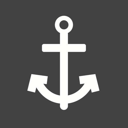 steady: Anchor, ship, boat icon vector image.