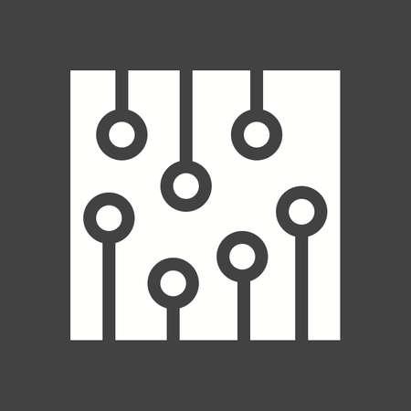 processor: Circuit, ic, processor icon vector image.  Illustration