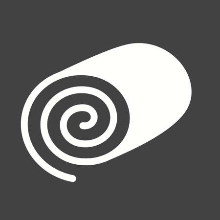 swiss roll: Roll, swiss, cake icon vector image.