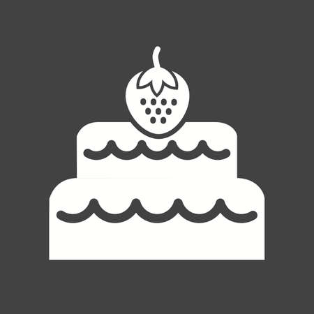 layer cake: Chocolate, cake, coconut icon vector image. Can also be used for sweets and confectionery. Suitable for use on web apps, mobile apps and print media.