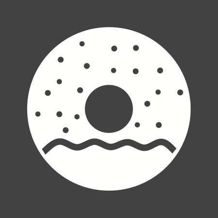 sprinkles: Donuts, food, sprinkles icon vector image.