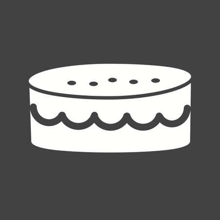 carne picada: Pastel, carne picada, la imagen del icono del vector dulce.