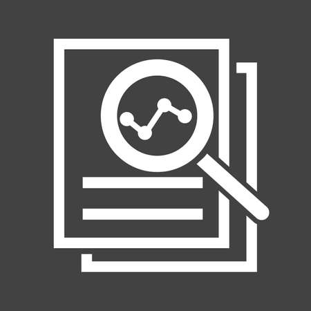 review icon: Overview, analysis,review icon vector image.
