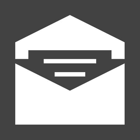mail address: Mail, address, message icon vector image.