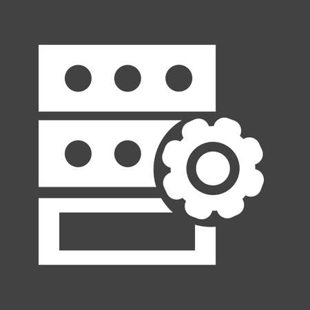 protected database: Data, server, storage icon vector image.