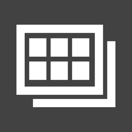 images icon: Gallery, images, photo icon vector image.
