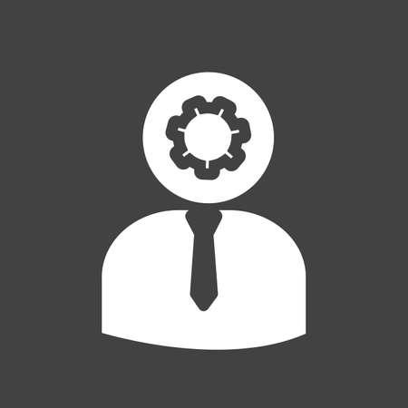 felügyelő: Admin, menedzser, témavezető icon vector kép Illusztráció