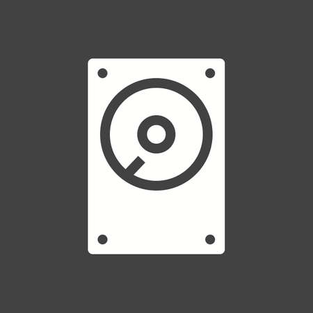 hdd: Hard disk, drive, hdd icon vector image.