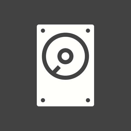 sata: Hard disk, drive, hdd icon vector image.