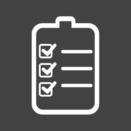 draft: Checklist, outline, draft icon vector image