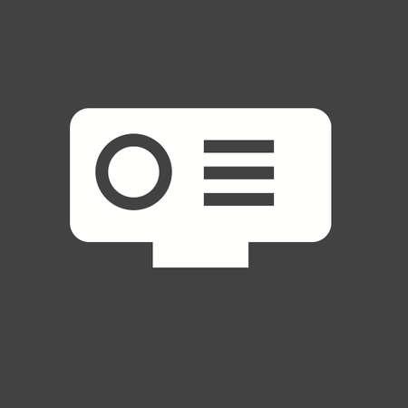 hd: Camera, video, hd icon vector image.