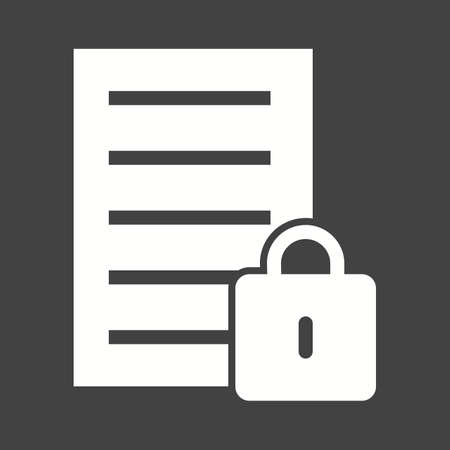 secure files: Data, security, lock, icon vector image.Can also be used for banking, finance, business. Suitable for web apps, mobile apps and print media.