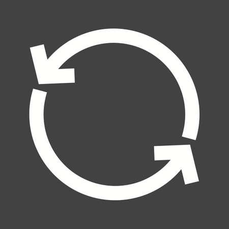 Sync, refresco, imagen de actualización del icono del vector. También se puede utilizar para el teléfono y la comunicación. Adecuado para su uso en aplicaciones web, aplicaciones móviles y material de impresión. Ilustración de vector