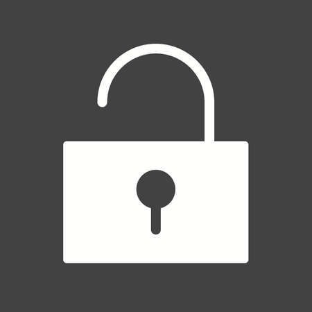 unlocked: Unlock, open, security icon vector image. Can also be used for phone and communication. Suitable for use on web apps, mobile apps and print media.