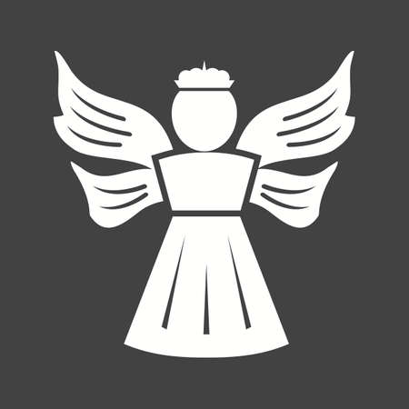 religious icon: Angel, heaven, religious icon vector image.Can also be used for easter, celebration, observances and holidays. Suitable for mobile apps, web apps and print media.