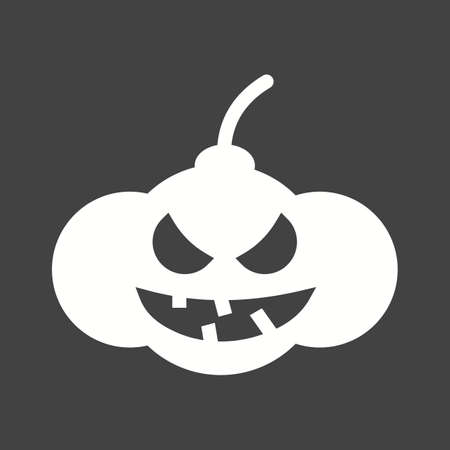 glowing carved: Pumpkin, lantern, dark icon vector image.Can also be used for halloween, celebration, observances and holidays. Suitable for mobile apps, web apps and print media.