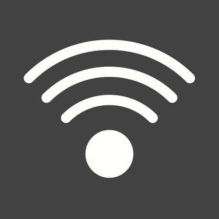 computer hardware: Wifi, wireless, internet icon vector image. Can also be used for computer hardware, computer network and connection. Suitable for use on web apps, mobile apps and print media.