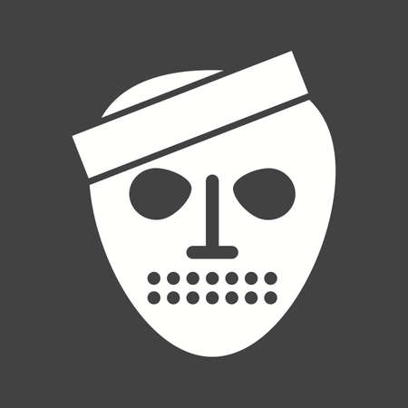 mystery man: Horror, fear, ghost icon vector image.Can also be used for halloween, celebration, observances and holidays. Suitable for mobile apps, web apps and print media.