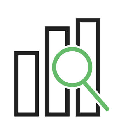 icons site search: Magnifying glass, statistics, bar icon vector image. Can also be used for seo, digital marketing, technology. Suitable for use on web apps, mobile apps and print media.