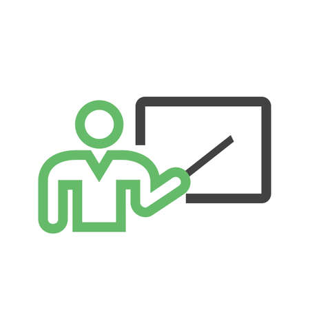 Lecturer, professor, tutor icon vector image. Can also be used for education, academics and science. Suitable for use on web apps, mobile apps, and print media. Illustration