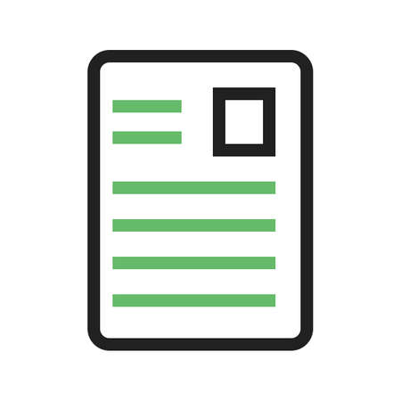 article icon: Article, page, document, data icon vector image. Can also be used for seo, digital marketing, technology. Suitable for use on web apps, mobile apps and print media. Illustration
