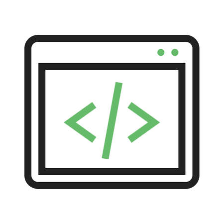 java script: Code, coding, programming, development icon vector image. Can also be used for seo, digital marketing, technology. Suitable for use on web apps, mobile apps and print media. Illustration