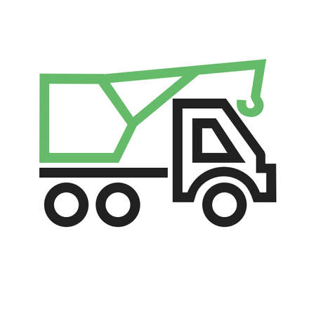 vecotr: Crane, construction, site icon vectgor image. Can also be used for transport, transportation and travel. Suitable for mobile apps, web apps and print media. Illustration