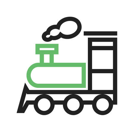 steam locomotive: Train, steam, locomotive icon vectgor image. Can also be used for transport, transportation and travel. Suitable for mobile apps, web apps and print media.